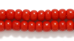 Czech Pony Glass Seed Bead Size 6 - Medium Red - Opaque Finish