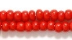 Czech Pony Glass Seed Bead Size 6 - Dark Red - Opaque Finish