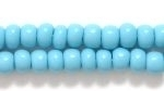 Czech Pony Glass Seed Bead Size 6 - Turquoise Blue - Opaque Finish