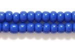 Czech Pony Glass Seed Bead Size 6 - Dark Blue - Opaque Finish