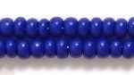 Czech Pony Glass Seed Bead Size 6 - Royal Blue - Opaque Finish