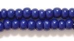 Czech Pony Glass Seed Bead Size 6 - Navy Blue - Opaque Finish