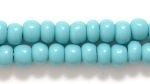Czech Pony Glass Seed Bead Size 6 - Turquoise Green - Opaque Finish