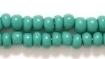Czech Pony Glass Seed Bead Size 6 - Blue Green - Opaque Finish