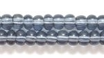 Czech Pony Glass Seed Bead Size 6 - Grey - Transparent Finish