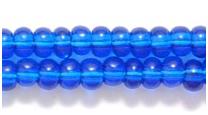 Czech Pony Glass Seed Bead Size 6 - Capri Blue - Transparent Finish
