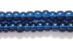 Czech Pony Glass Seed Bead Size 6 - Montana Blue - Transparent Finish