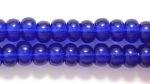 Czech Pony Glass Seed Bead Size 6 - Cobalt - Transparent Finish