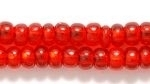 Czech Pony Glass Seed Bead Size 6 - Ruby Red - Silver Lined