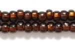 Czech Pony Glass Seed Bead Size 6 - Root Beer - Silver Lined