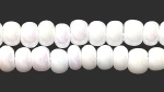 Czech Pony Glass Seed Bead Size 6 - White AB - Opaque Iridescent Finish