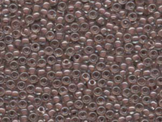 Japanese Miyuki Glass Seed Bead Size 8 - Crystal with Cocoa - Color Lined