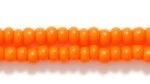 Czech Glass Seed Bead Size 8 - Orange - Opaque Finish | Harlequin Beads and Jewelry