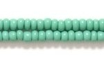 Czech Glass Seed Bead Size 8 - Kelly Green - Opaque Finish