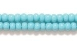 Czech Glass Seed Bead Size 8 - Turquoise Green - Opaque Finish