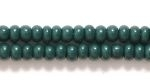 Czech Glass Seed Bead Size 8 - Forest Green - Opaque Finish