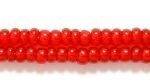 Czech Glass Seed Bead Size 8 - Ruby Red - Transparent Finish