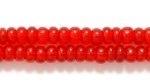 Czech Glass Seed Bead Size 8 - Garnet Red - Transparent Finish