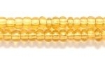 Czech Glass Seed Bead Size 8 - Topaz - Transparent Finish