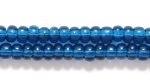 Czech Glass Seed Bead Size 8 - Montana Blue - Transparent Finish
