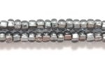 Czech Glass Seed Bead Size 8 - Grey - Silver Lined