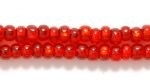 Czech Glass Seed Bead Size 8 - Ruby Red - Silver Lined