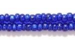 Czech Glass Seed Bead Size 8 - Cobalt Blue - Silver Lined