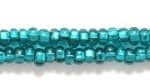 Czech Glass Seed Bead Size 8 - Emerald - Silver Lined