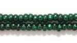 Czech Glass Seed Bead Size 8 - Blue Green - Silver Lined