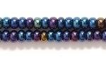 Czech Glass Seed Bead Size 8 - Blue - Opaque Iridescent Finish