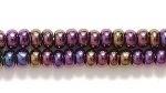 Czech Glass Seed Bead Size 8 - Purple - Opaque Iridescent Finish