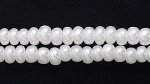 Czech Glass Seed Bead Size 8 - White - Opaque Pearlescent Finish