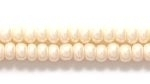 Czech Glass Seed Bead Size 8 - Eggshell - Opaque Pearlescent Finish