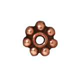 4mm Daisy Spacer Beads - Antique Copper Finish