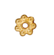4mm Daisy Metal Spacer Beads - Gold Finish