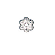 3mm Daisy Spacer Metal Beads - Silver Finish