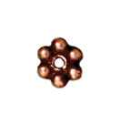3mm Daisy Spacer Metal Beads - Antique Copper Finish