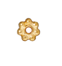5mm Daisy Spacer Metal Beads - Gold Finish