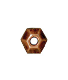 3mm Faceted Metal Spacer Beads - Antique Copper Finish