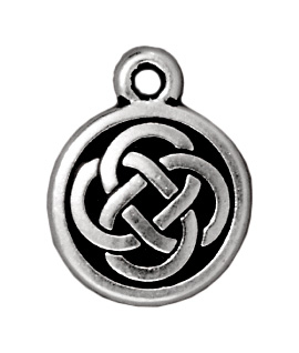 12mm Antique Silver Celtic Round Charm | TierraCast Lead-free Pewter Base Metal Charms