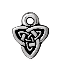 8mm Antique Silver Celtic Triad Charm | TierraCast Lead-free Pewter Base Metal Charms