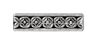 15mm Deco Rose 3 Hole Spacer Bar - Antique Silver Finish | TierraCast Lead-free Pewter Findings