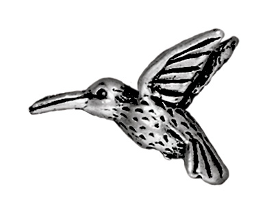 Hummingbird Metal Beads and Spacers - Antique Silver Finish