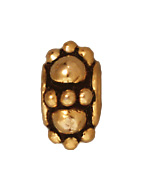 Metal 7mm Fancy Turkish Beads and Spacers - Antique Gold Finish