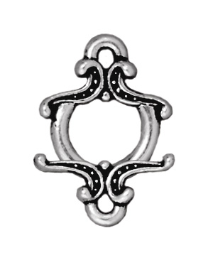 TierraCast 11mm Keepsake Toggle Clasp - Antique Silver Finish - 5 Pack | Lead Free Pewter Base Metal Jewelry Clasps | Findings