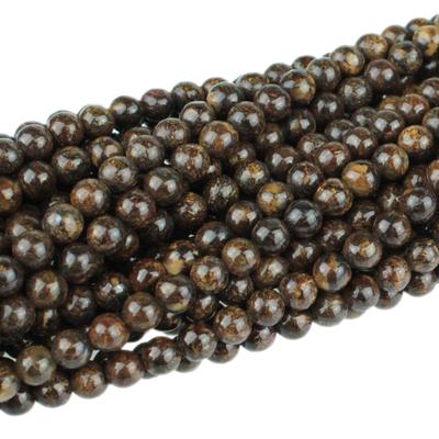 Bronzite 4mm round bronze | Gemstone Beads