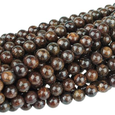 Bronzite 6mm round bronze   Gemstone Beads