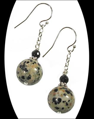Dalmatian Jasper Earrings | Jewelry Design Ideas