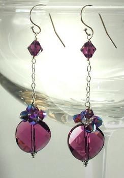 Amethyst Crystal Disco Earrings | Jewelry Design Ideas