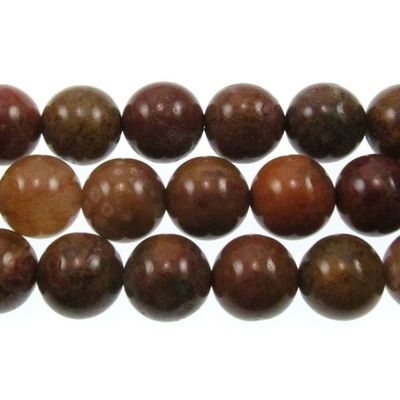Agua Nueva 10mm round earthy golds, browns and reds | Gemstone Beads